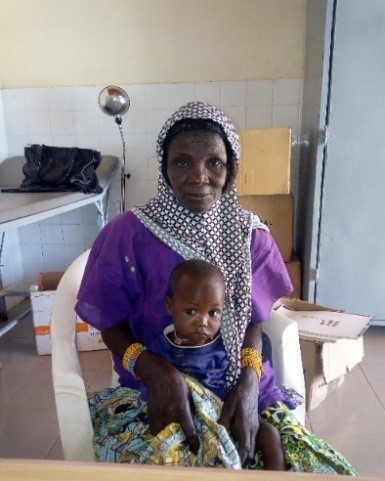 Ali with his grandmother at the Islamic Relief malnutrition treatment centre